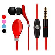 auricular estéreo de alta en la oreja los auriculares de metal auriculares manos libres con micrófono 3.5mm auriculares para el