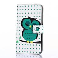 Voor Samsung Galaxy hoesje Hoesje cover Kaarthouder Portemonnee met standaard Flip Patroon Volledige behuizing hoesje Uil PU-leer voor