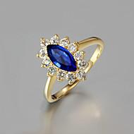 Damskie Obrączki biżuteria kostiumowa Cyrkon Pozłacane 18K złoty Biżuteria Na Ślub Impreza Codzienny Casual