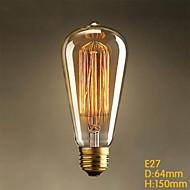 E26 25W ST64 Straight Wire Edison Art Deco Tungsten Light Source