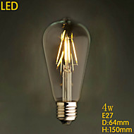 E27 220V 5W Restaurant Bar Retro Chandeliers Edison Imitation Tungsten Filament LED Bulbs