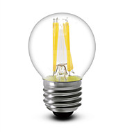 1 pcs SHENMEILE E26/E27 4 W 4 COB 400 LM Warm White G45 Dimmable LED Filament Bulbs AC 110-130 V