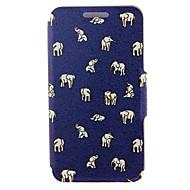 kinston®는 삼성 갤럭시 노트 2 / 주 3 / 주 4 / 주 5 / 주 5 가장자리 스탠드 패턴 전신 우레탄 커버를 코끼리