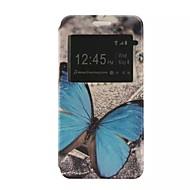 Voor Samsung Galaxy hoesje met standaard / met venster / Flip / Patroon hoesje Volledige behuizing hoesje Vlinder PU-leer SamsungJ5 / J2