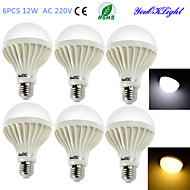 YouOKLight® 6PCS E27 12W 18*SMD5630 900LM  Warm White/Cool White Light  LED Energy saving Globe Bulbs (AC 220V)