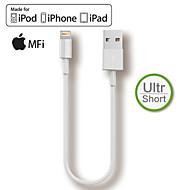 hxinh mfi relâmpago para usb carregador de sincronização 20 centímetros de cabo curto para iphone5 6 6s plus, mini-ar ipad pro especial