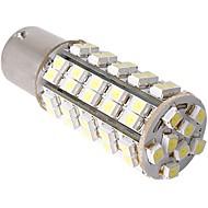 2 x carro 1156 1073 7527 cauda estacionamento freio lâmpada branca 68 LED SMD 12v luz