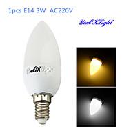 1PCS YouOKLight® E14 3W CRI=70 200lm 10-SMD2835 Warm White Light/Cool White Light LED Candle Bulbs(AC 220V)
