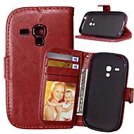 Varten Samsung Galaxy kotelo Lomapkko / Korttikotelo / Tuella / Flip Etui Kokonaan peittävä Etui Yksivärinen Tekonahka SamsungS6 Active /
