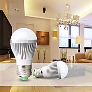 1pcs E26/E27 9W Warm White / Cool White Aerospace Aluminum  Luxury Decorative Globe Bulbs