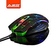 ajazz 2400 dpi: n optinen säädettävä värikkäitä valoja langallinen tarkkuuden ohjelmoitava laser pelihiiri