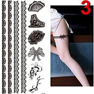 Tatuointitarrat - JT - Muut - Glitter - Non Toxic / Kuvio / Glitter / Alaselkä / Waterproof / Joulu - Animal - 17*16cm - Monivärinen -1