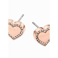 Romantic Heart-shaped High Polished Set Drill Stud Earrings