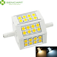 R7S 78mm 24x 5060SMD 8W Warm White / Cool White 800LM 220°Beam Horizontal Plug Lights Dimmable Flood Light AC85-265V