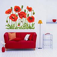 크리스마스 / 플로럴 / 휴일 벽 스티커 플레인 월스티커 , pvc 50x70x0.1cm