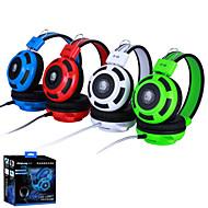 옵션 네 가지 색상 - 이상 - 귀 게임 헤드셋 이어폰 헤드 밴드 / 마이크 스테레오베이스 와트 PC를위한 빛을 주도