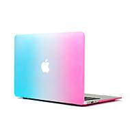 3 en 1 de arco iris colorido cubierta del estuche rígido + cubierta del teclado + protector de la pantalla de goma para el MacBook Pro de