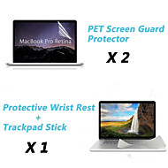 "Wrist Rest Protective Film and Touch Panel Membrane + Protective Clear Screen Guard for 13.3""/15.4"" MacBook Pro Retina"