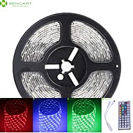 5M 75W 300x5050 SMD LED DC12V IP68 Waterproof Strip Light + 44Key Remote Control RGB