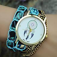 Dames Modieus horloge Armbandhorloge Kwarts Stof Band Bohémien Zwart Wit Blauw Orange Roze Paars Zwart Oranje Paars Blauw Roze
