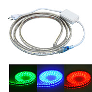 jiawen 100CM Waterproof  6W  60-5050SMD 8-Mode  RGB LED Flexible Light Strip (AC110~220V)