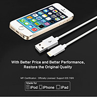 lityus eple mfi godkjent USB-kabel 3.28ft (1m) for iphone 6/6-ere og 6 / 6s pluss, iphone 5 / 5s / 5c, ipad data ladekabel