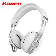 kanen ip-2030 fone de ouvido fones de ouvido com fio cabeça headset estéreo retro música com microfone para computador / telemóveis