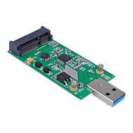 cwxuan® mini PCI-e mSATA a USB 3.0 SSD esterno scheda adattatore pcba conveter senza custodia