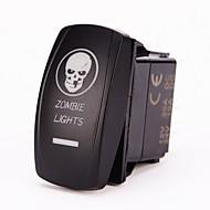 ゾンビライト - レーザーブルーiztoss 20アンペア、12ボルトを5ピンジャンパー線/ Wオン - オフロッカースイッチのLEDが点灯