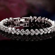 Dames Bedelarmbanden Bangles Sterling zilver Zilver Sieraden Voor Bruiloft Feest Dagelijks Causaal Kerstcadeaus 1 stuks