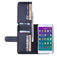 ל Samsung Galaxy Note ארנק / מחזיק כרטיסים / עם מעמד / נפתח-נסגר מגן גוף מלא מגן צבע אחיד דמוי עור Samsung Note 4