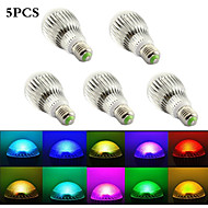 5Pcs  MORSEN®New Arrival RGB LED Bulb  E27 15W AC 85-265V  Led Lamp with Remote Control Multiple Colour Led  RGB Lamp