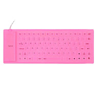 85 Key Soft Silicone USB 2.0 Wired Keyboard