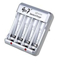 gd-825 100-240V aa 200mA * 4 * aaa 150mA 4 europa bateria padrão de prata adaptador de carregador