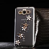 Voor Samsung Galaxy hoesje Strass / Transparant hoesje Achterkantje hoesje Bloem TPU SamsungA7(2016) / A5(2016) / A3(2016) / A8 / A7 / A5