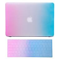 """2 en 1 caso de arco iris de goma de colores + cubierta del teclado para el aire del macbook 11 """"pro 13"""" / 15 """""""