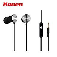 Kanen ip-609 bärbara in-ear stereohörlurar w / mikrofon för BlackBerry / htc