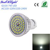 YouOKLight® 1PCS GU10 7W 600lm 48*SMD2835 Cold White High quality LED Spotlight (AC110-120V/220-240V)