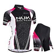 NUCKILY® Maglia con pantaloncini da ciclismo Per donna Maniche corte BiciclettaImpermeabile / Traspirante / Resistente ai raggi UV /