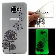 Mert Samsung Galaxy tok Foszforeszkáló / Átlátszó / Minta Case Hátlap Case Pitypang TPU Samsung A7(2016) / A5(2016)