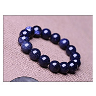 niebieskie niebo gwiaździste oryginalne kamienie naturalne kryształki tybetański paciorkami bransoletki nici, unisex biżuteria