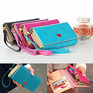 Luxury Lovely Cell Phone Wallet Bag Handbag Purse Case with Card Holder for iPhone 5/5S/6/6 Plus and Other Mobile Phones