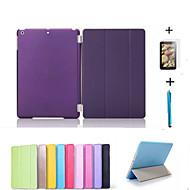 Smart Cover Ledertasche + PC-Kasten für Apple iPad Mini 3/2/1 + freies Geschenk Schutzfolie + touch pen lässig zurück