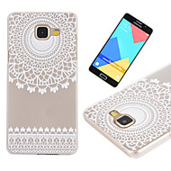 For Samsung Galaxy etui Syrematteret Gennemsigtig Etui Bagcover Etui blondedesign PC for Samsung A7(2016) A5(2016) A3(2016)