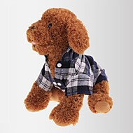 Cat / Dog Shirt / T-Shirt Red / Green / Blue Dog Clothes Summer / Spring/Fall Plaid/Check Casual/Daily / Classic