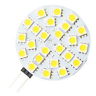 G4 4.8W 24-LED 5050 Warm White Round Shape LED Bulb