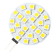 g4 4.8W 24 LED 5050 ampoule forme ronde LED blanc chaud