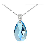 Austria Crystal Drop Pendant Necklace,Fine Jewelry