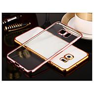för blackberry s8 plus plätering transparent målet täcker fallet enfärgad tpu samsung s7 kant s7 s8