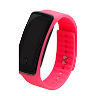 Dames Sporthorloge Digitaal LCD Vrijetijdshorloge Plastic Band Zwart Wit Blauw Rood Roze Paars Zwart Paars Rood Blauw Roze
